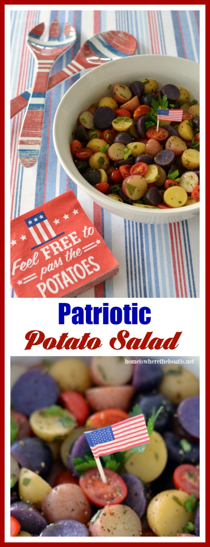 patriotic potato salad and independence day recipe round up