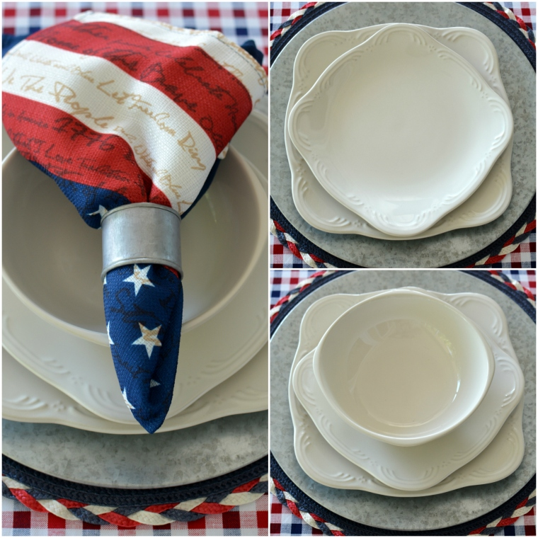 Celebrate the Red, White and Boom Patriotic Table with Pfaltzgraff ...