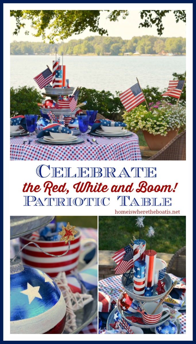 Red, White & Boom Patriotic Table