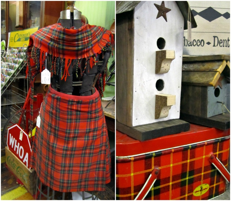 Tartan kilt and picnic basket