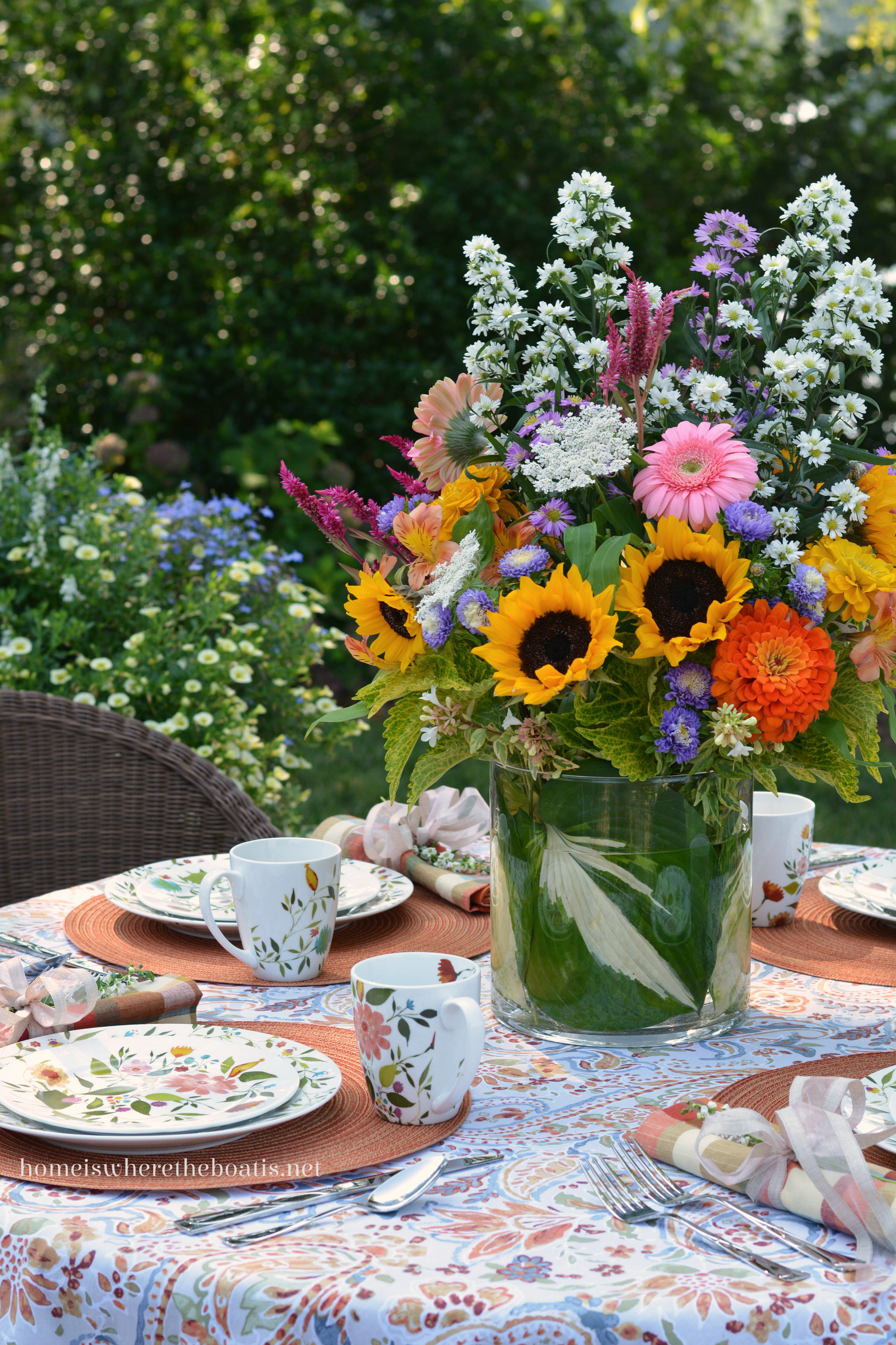 An Alfresco Table With Kim Parker Woodland Floral By Mikasa