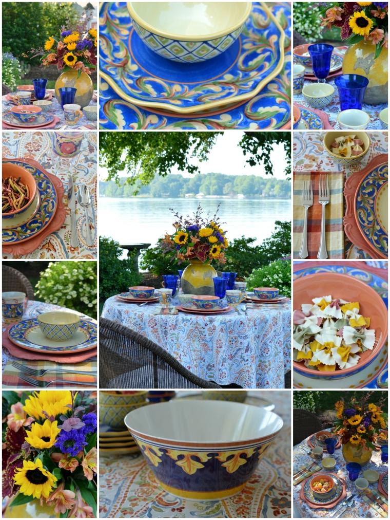 Lakeside Dining with Pfaltzgraff Villa della Luna