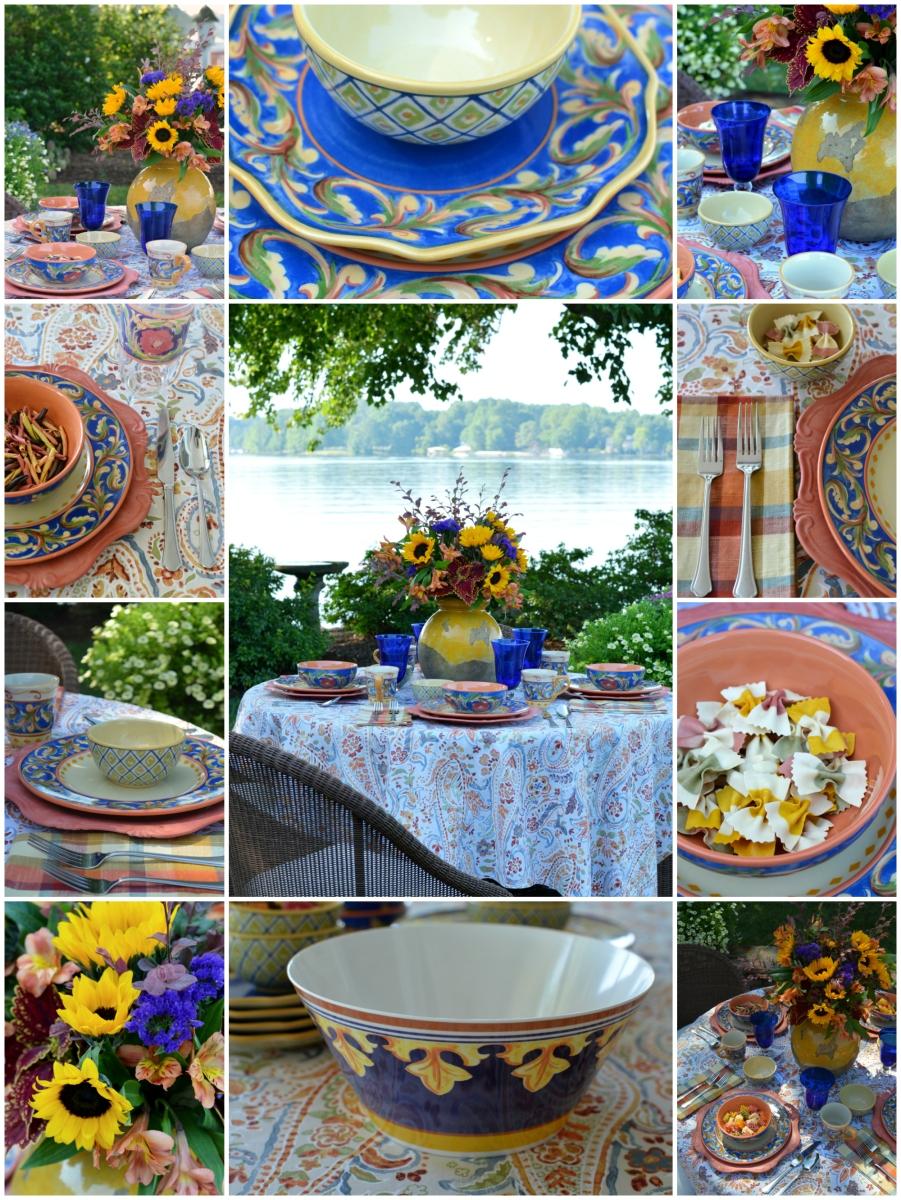 A Lakeside Table With Pfaltzgraff Villa Della Luna