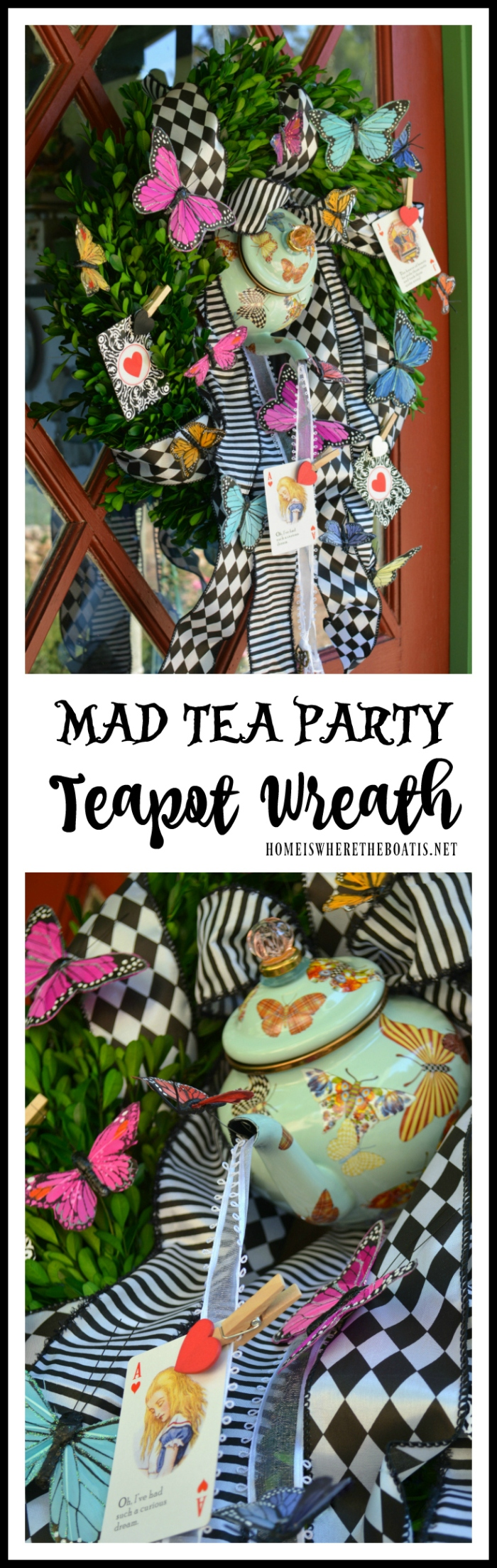 Mad Tea Party Teapot Wreath
