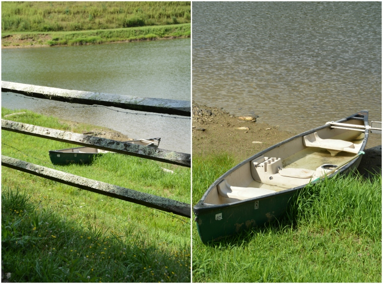 boat by pond