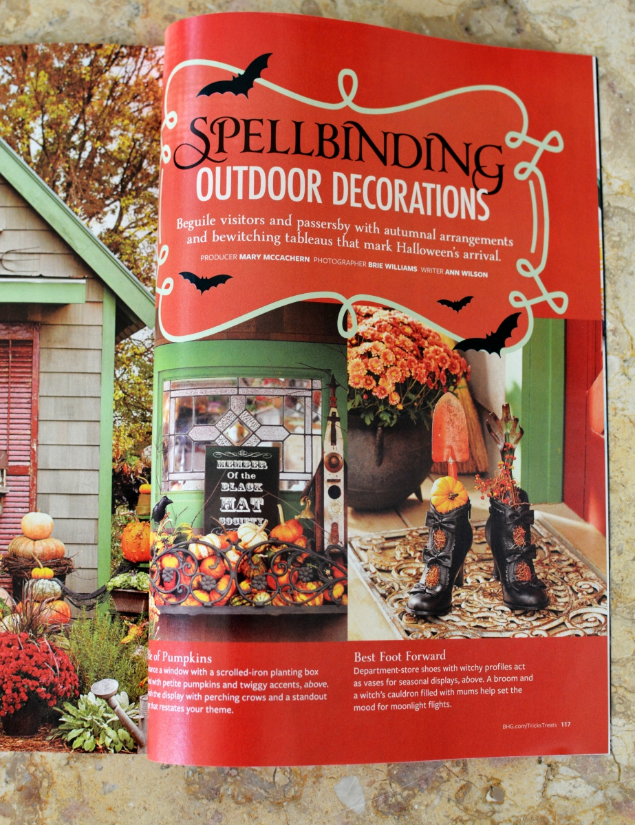Featured in Halloween Tricks & Treats Magazine: Spooky Settings and Spellbinding Decorations!