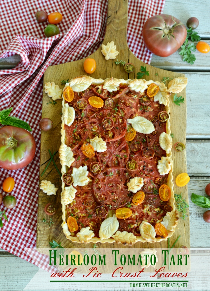 Heirloom Tomato Tart with Pie Crust Leaves