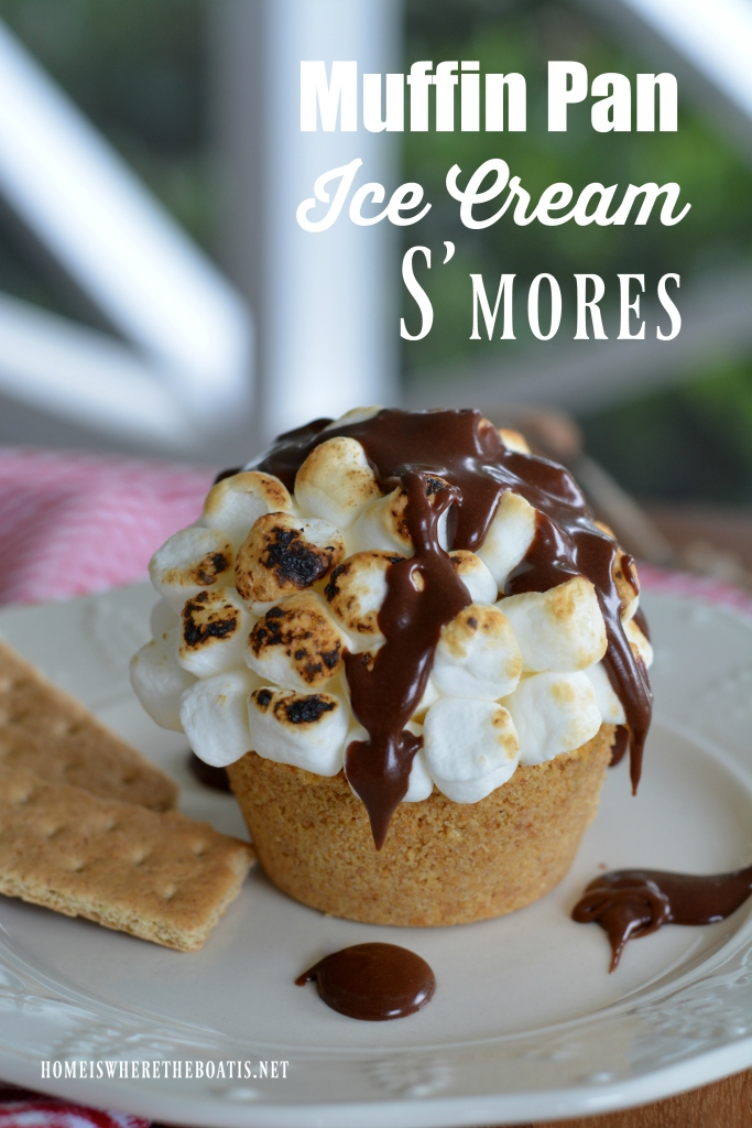 Muffin Pan Ice Cream S'mores