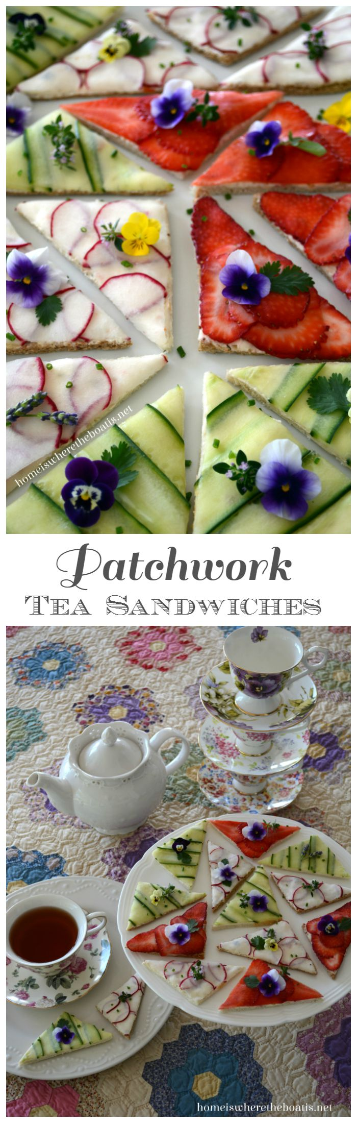 Patchwork Tea Sandwiches