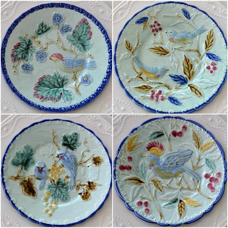 Pottery Barn Majolica Salad Plates