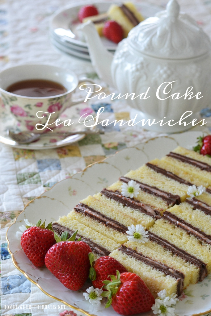Pound Cake Tea Sandwiches