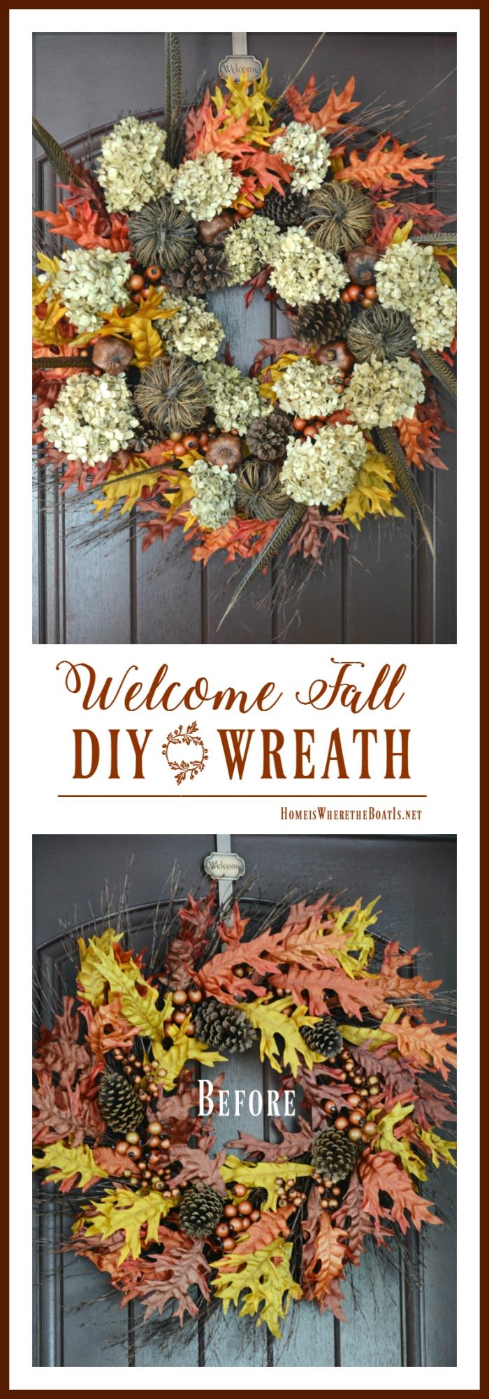Welcome Fall DIY Wreath