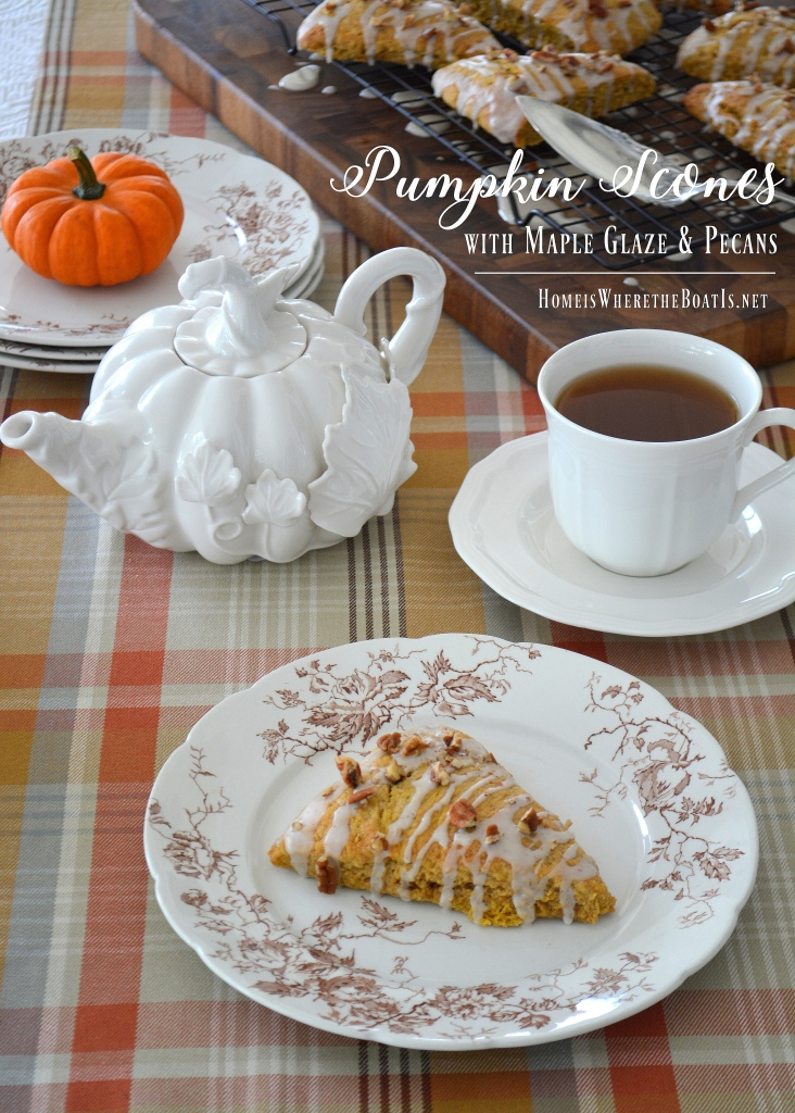 pumpkin-scones-with-maple-glaze