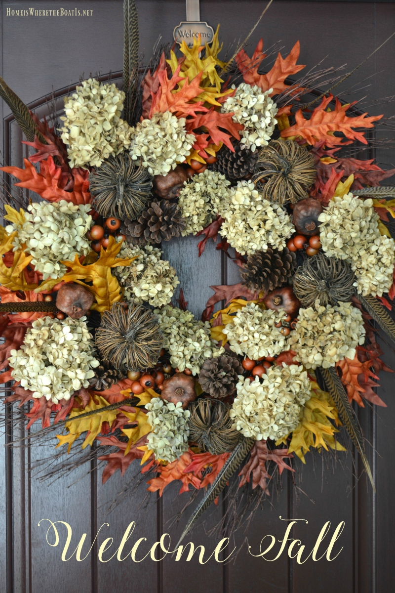 Welcome Fall Diy Wreath With Natural Elements Home Is