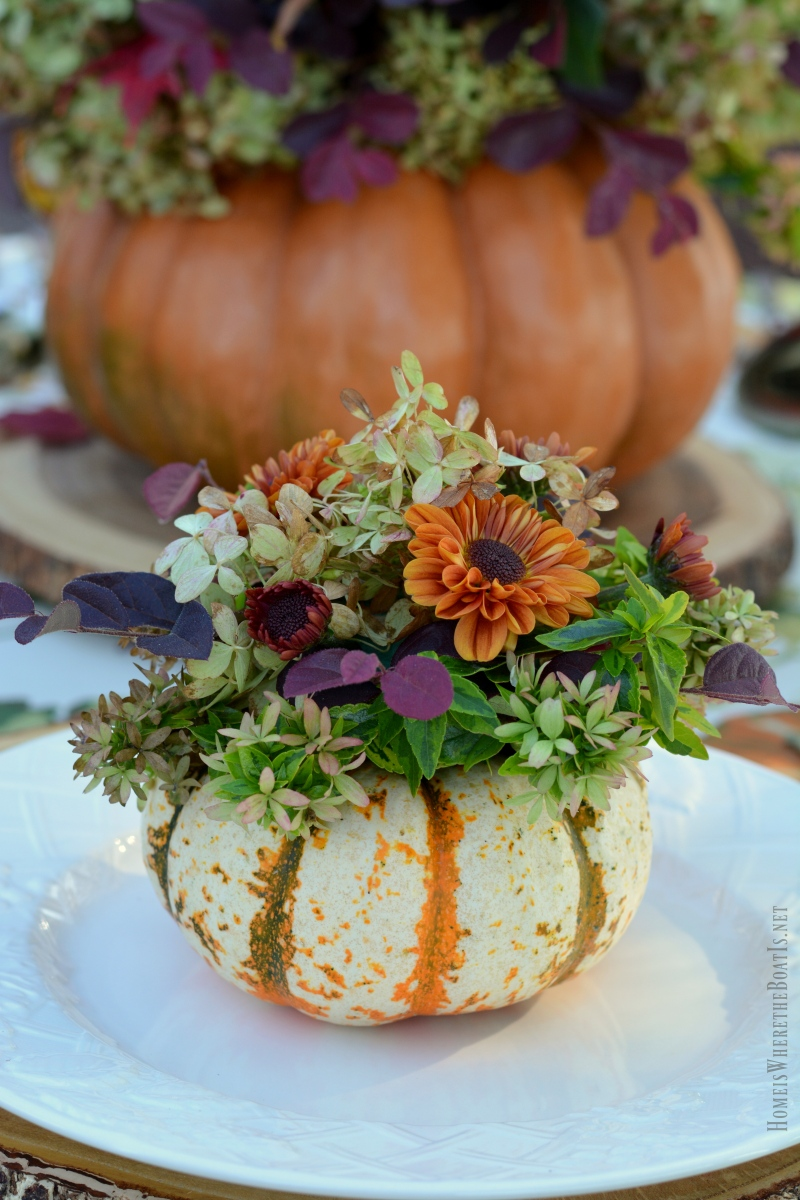 An Alfresco Fall Table With Blooming Pumpkins Home Is