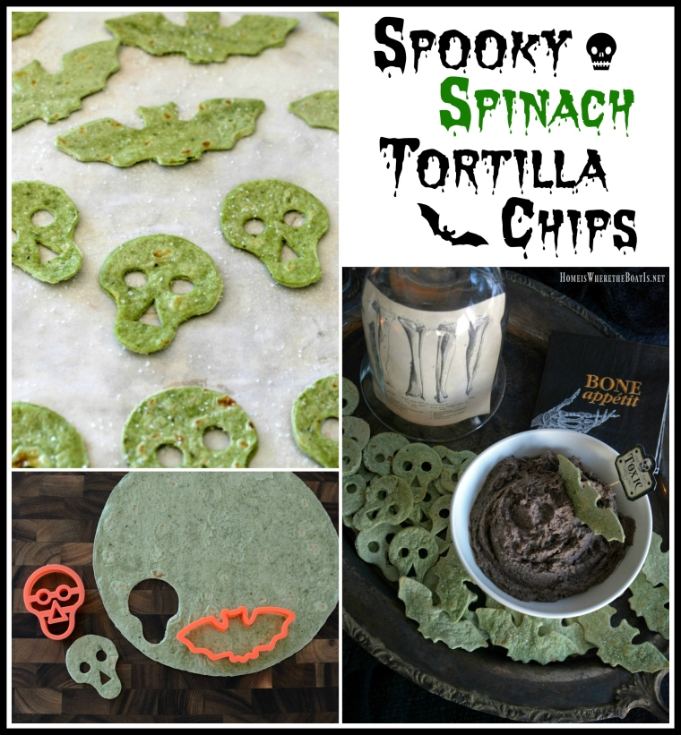Spooky Spinach Tortilla Chips