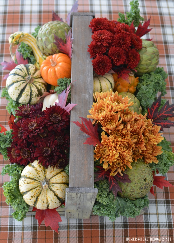 Create a rustic harvest centerpiece for your thanksgiving