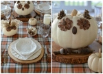 Whimsical Fall Table with Pumpkin Owls