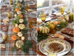 thanksgiving-table-with-pumpkin-oak-leaf-centerpiece