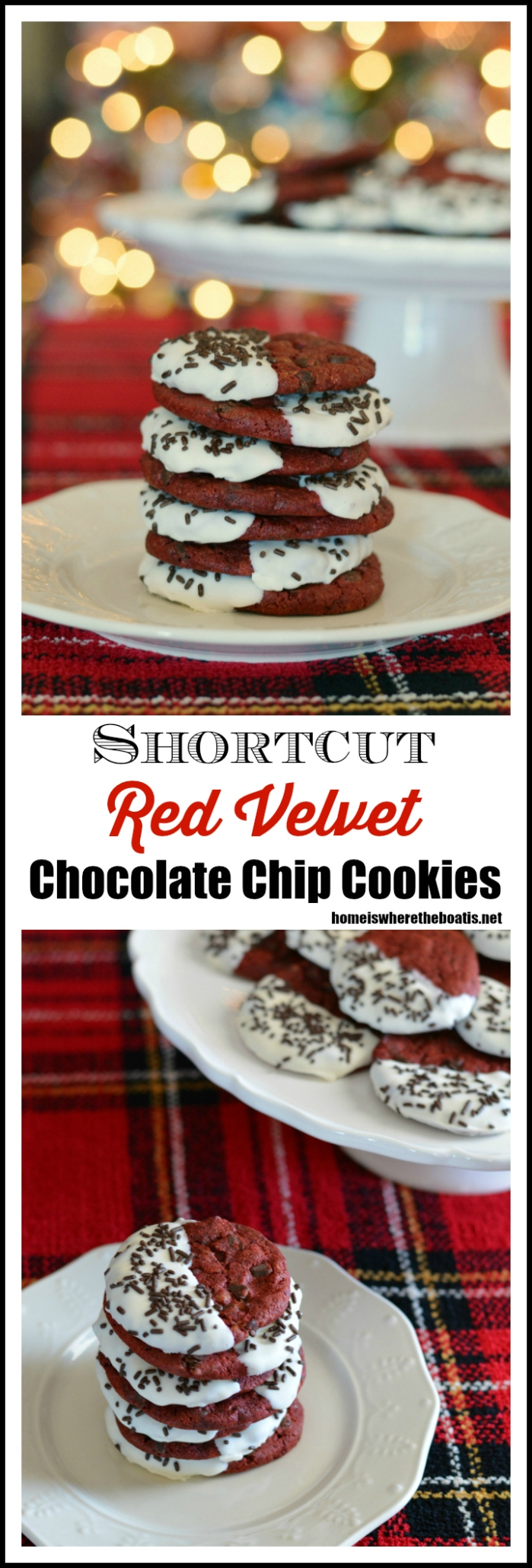 Shortcut Red Velvet Chocolate Chip Cookies