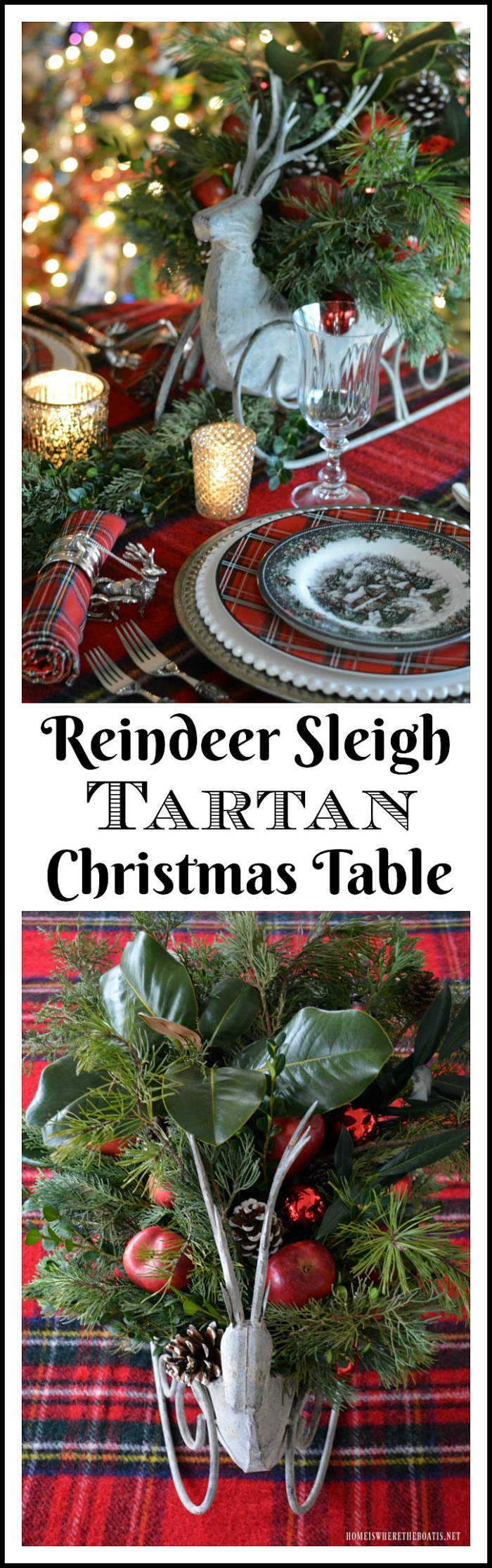 reindeer-sleigh-tartan-christmas-table
