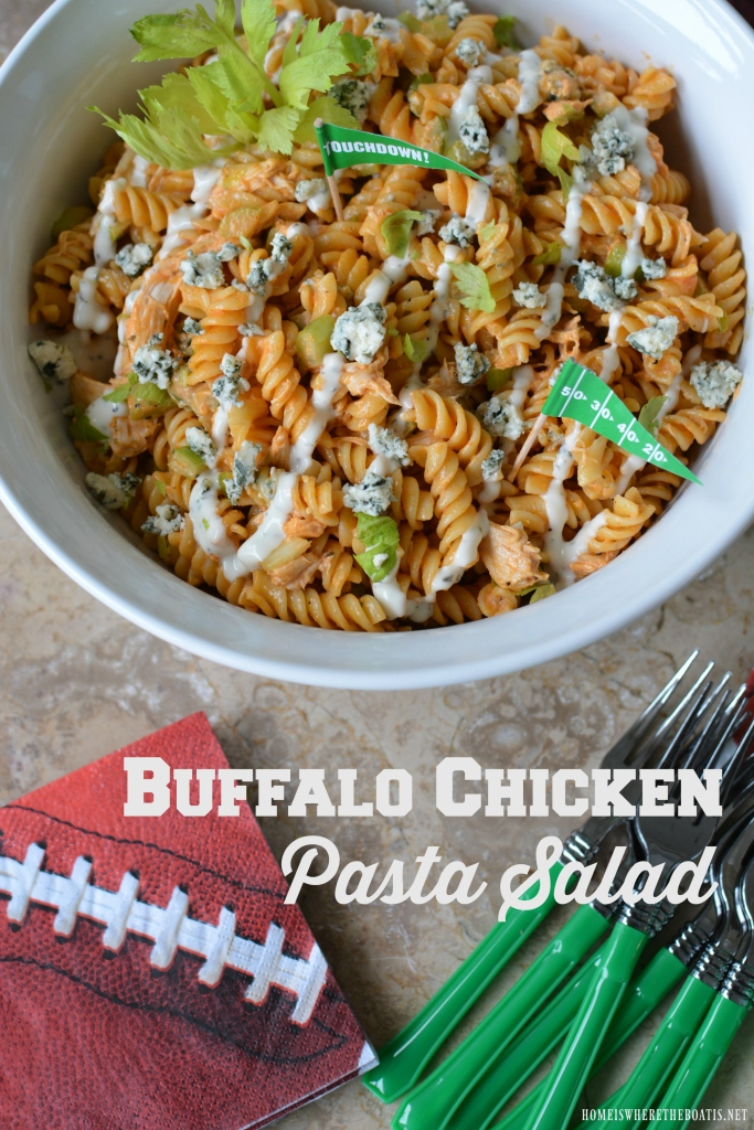 Buffalo Chicken Pasta Salad And Game Day Recipes Home Is