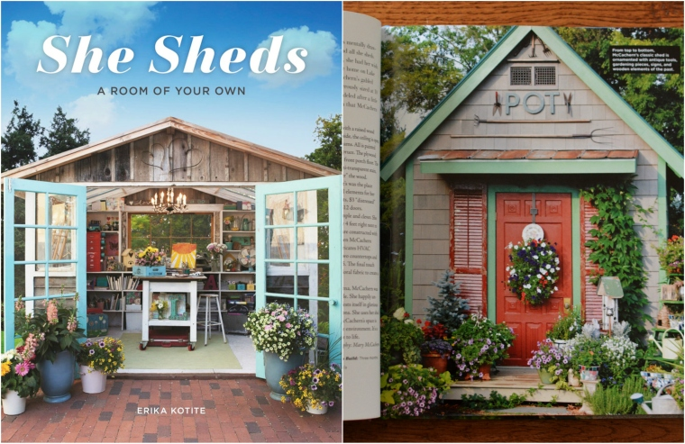 Potting Shed Featured in She Sheds: A Room of Your Own | ©homeiswheretheboatis.net