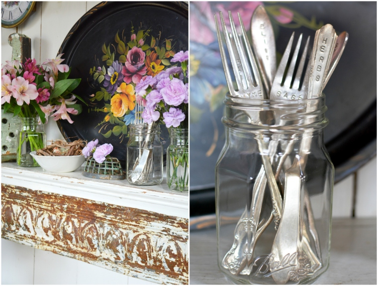 ball-sharing-jars-with-flowers-and-stamped-flatware