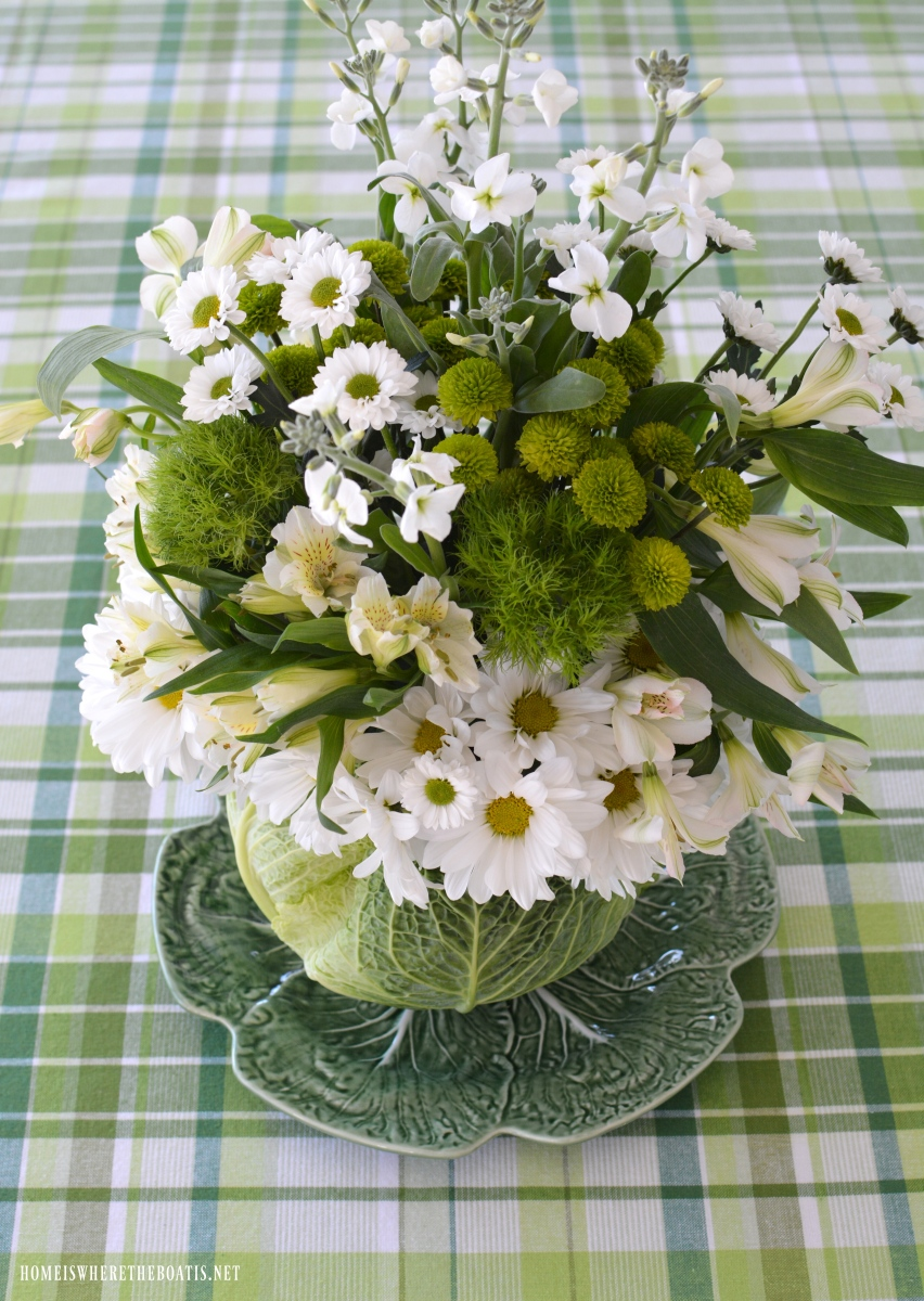 Cabbage floral centerpiece diy home is where the boat