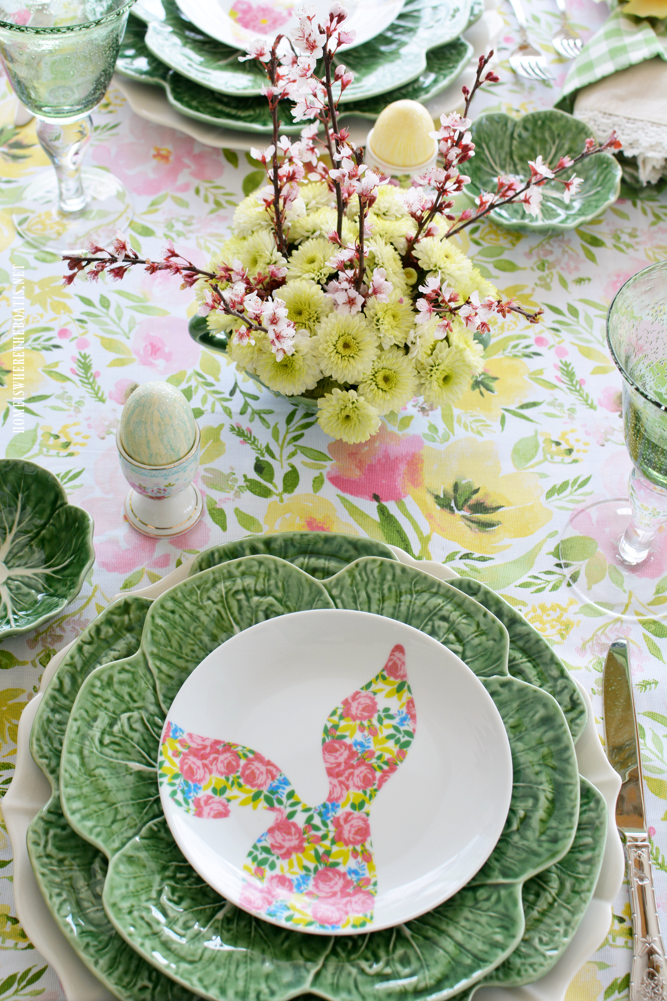 Happy ... & Hopping into Spring Tablescape and Blog Hop! \u2013 Home is Where the Boat Is