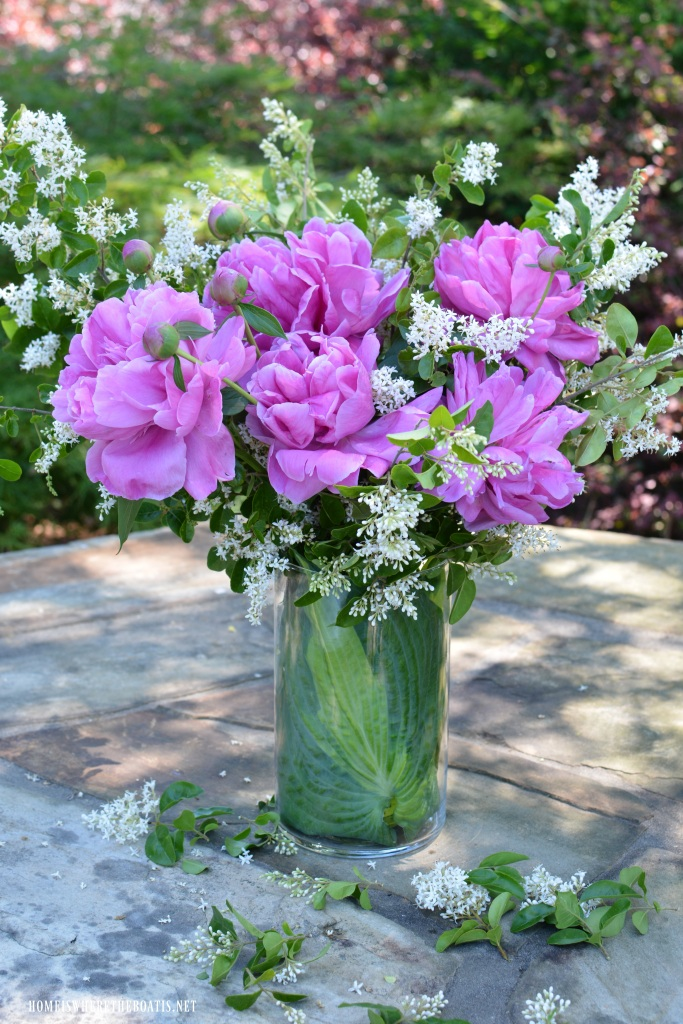 Garden Bouquet DIY and Recycling Flower Arranging Hack – Home is ...
