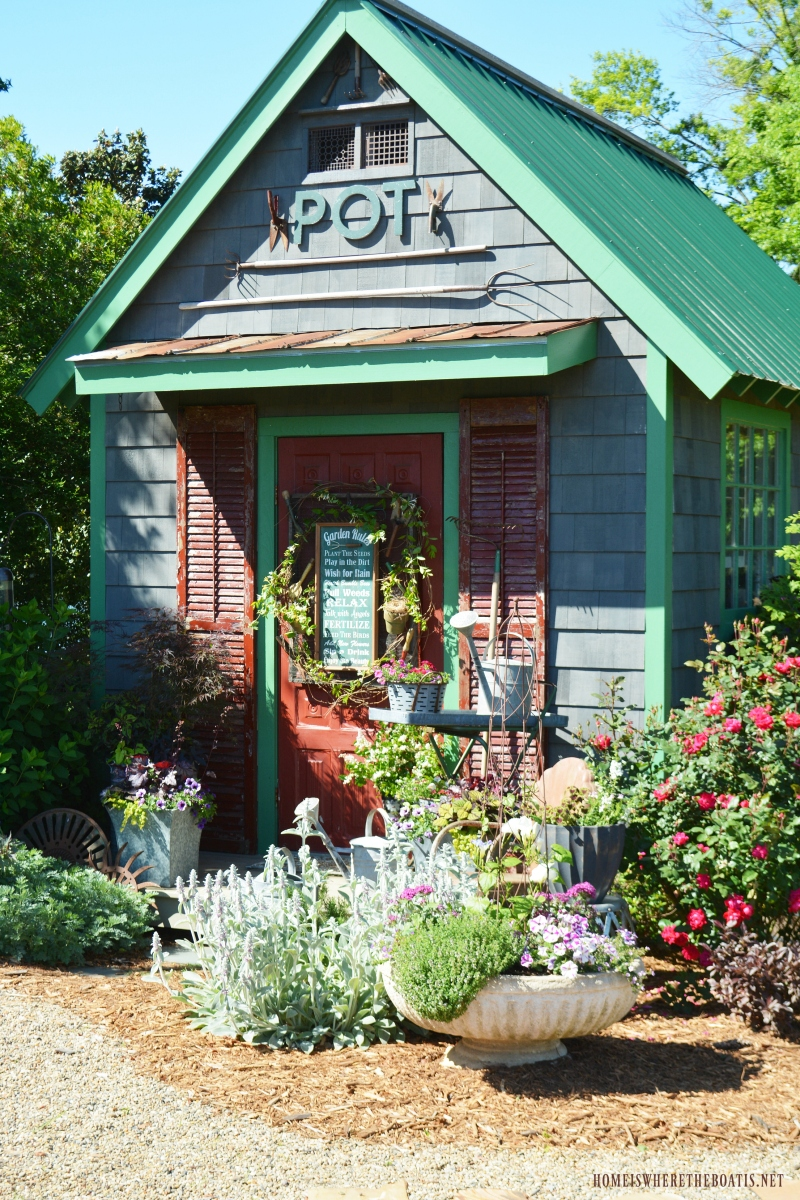 Garden rules around the potting shed and winners home is for Potting shed