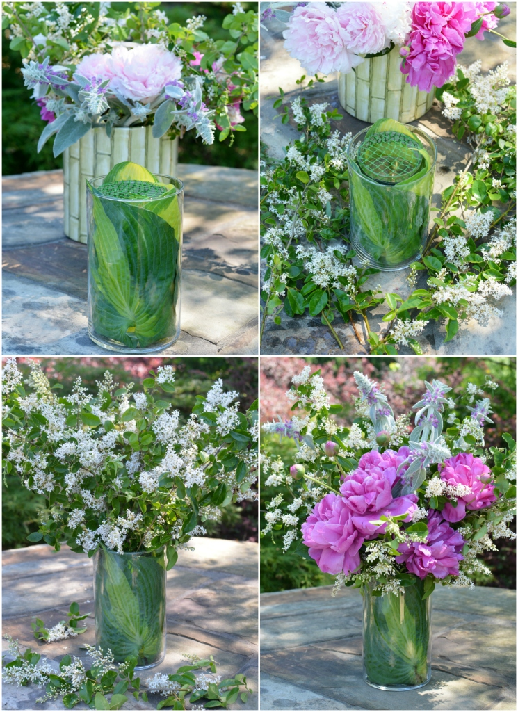Garden bouquet diy and recycling flower arranging hack for Garden arrangement