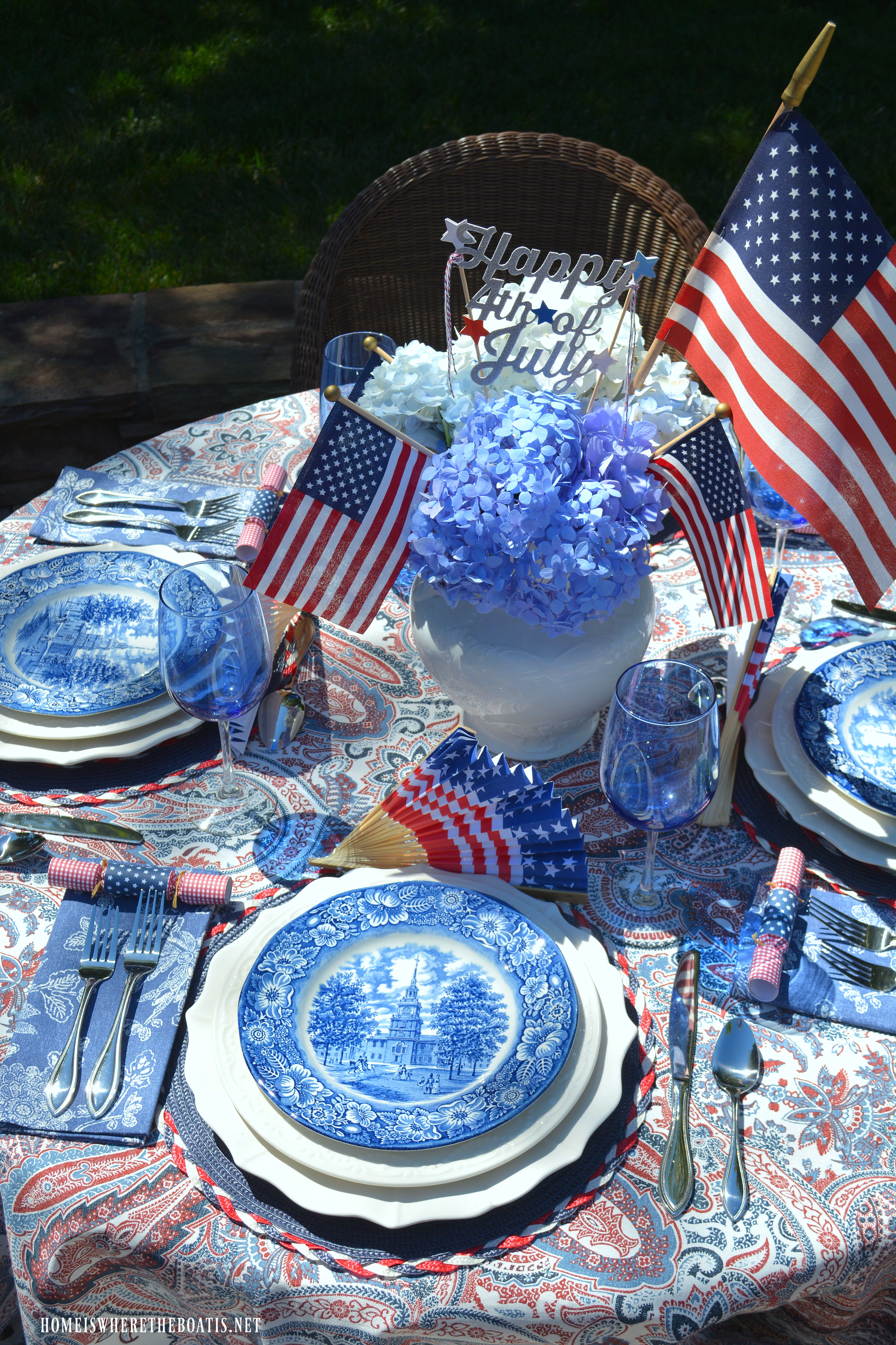 An ... & A Patriotic Table with Red White and Liberty Blue \u2013 Home is Where ...