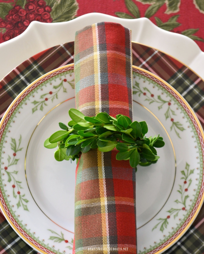 Christmas In July Diy Boxwood Wreath Napkin Rings Home Is Where