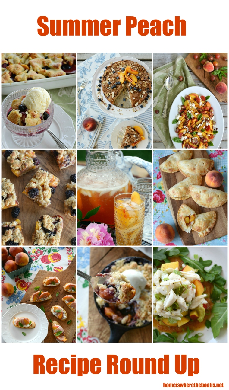 Summer Peach Recipe Round-Up | #peach #recipes #desserts #salads #appetizers