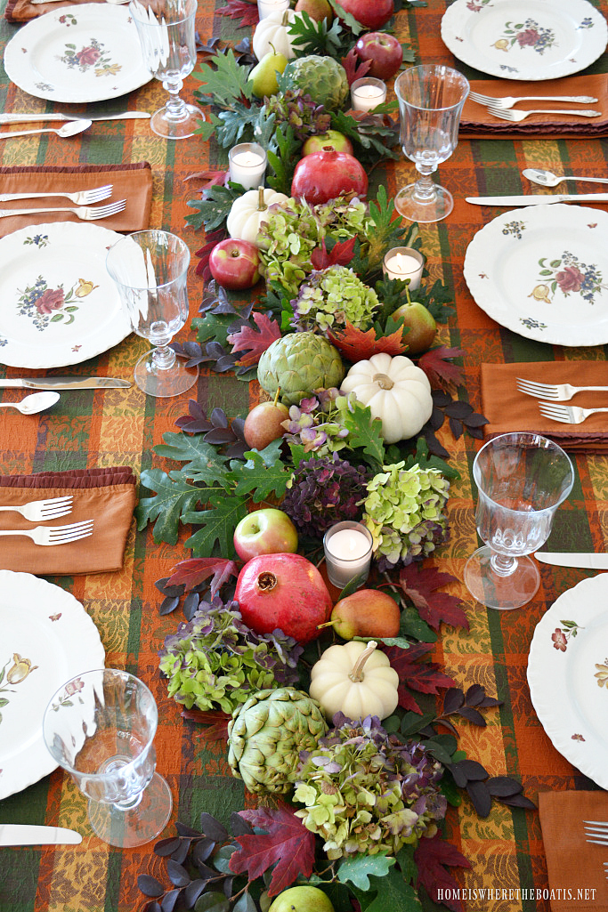 Seasonal or holiday table centerpiece diy home is where