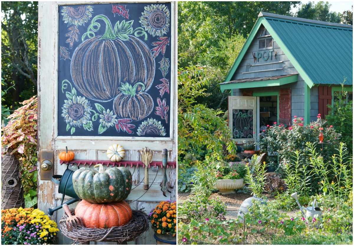 Potting Shed: Chalking it Up to Fall and Garden Blooms