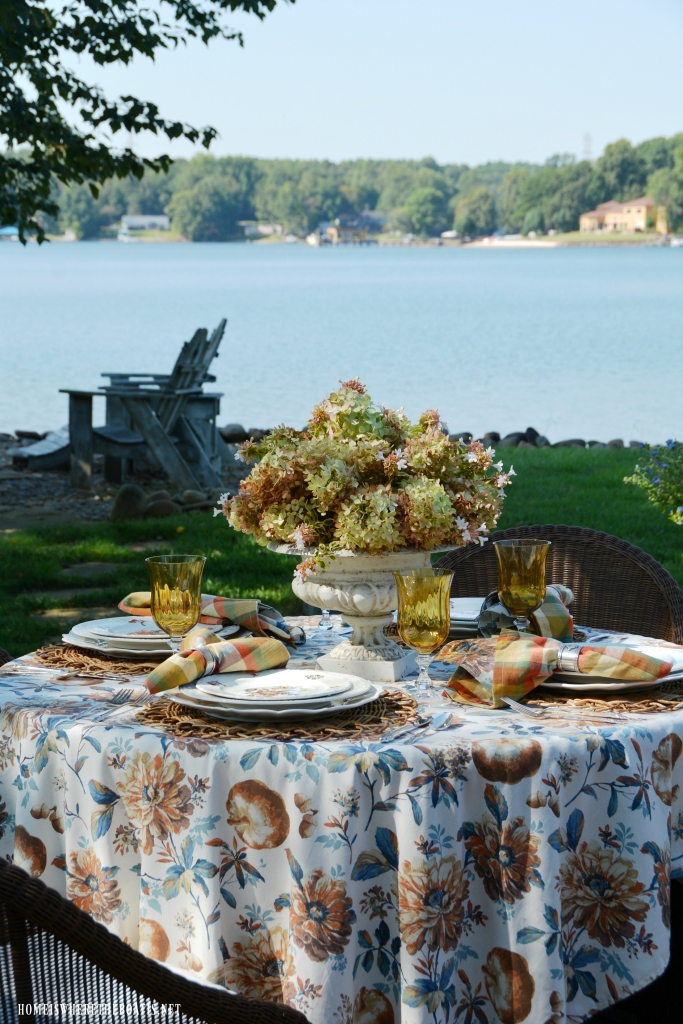At The Table Summer Into Fall And Limelight Hydrangeas