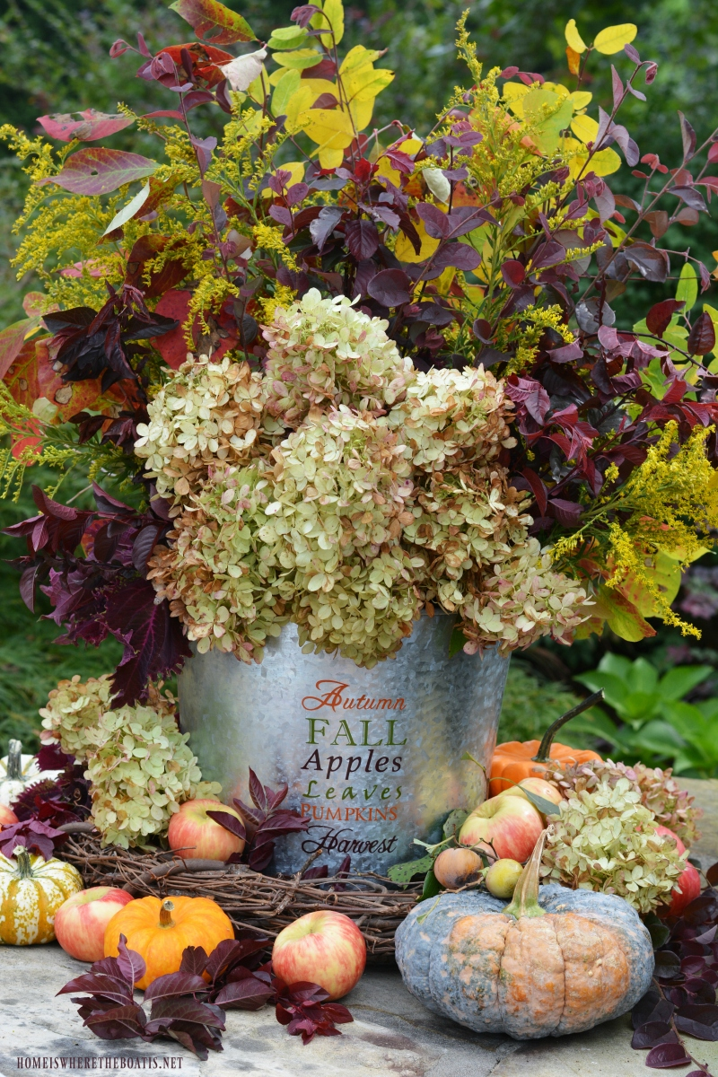 Easy DIY Fall Harvest Arrangement