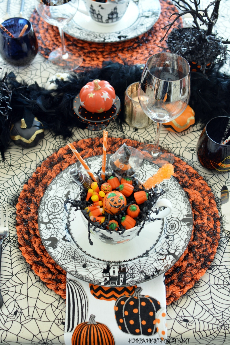 Black Hat Society Spooktacular Halloween Table