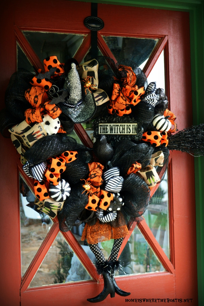 The Witch Is In Diy Halloween Wreath Home Is Where The Boat Is