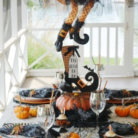 The Witch Is In: Floating Witch Halloween Tablescape
