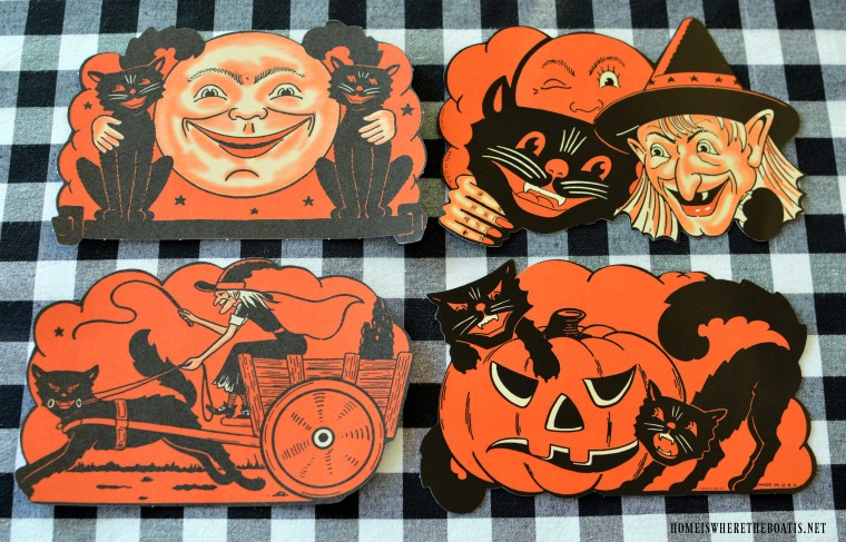 Beistle Halloween   Tis Near Halloween Table With Vintage Beistle Home Is Where The