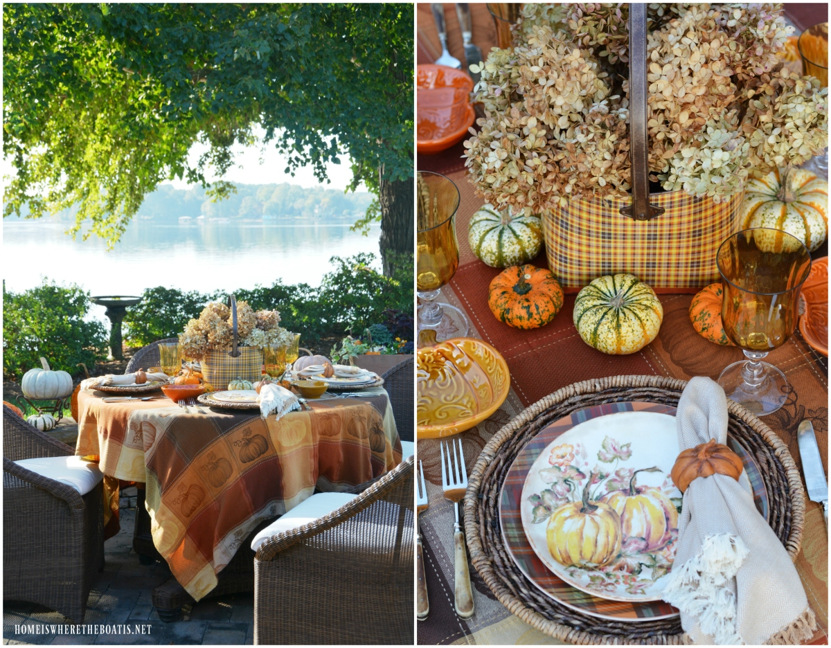 Pumpkins and Plaid Alfresco Fall Table