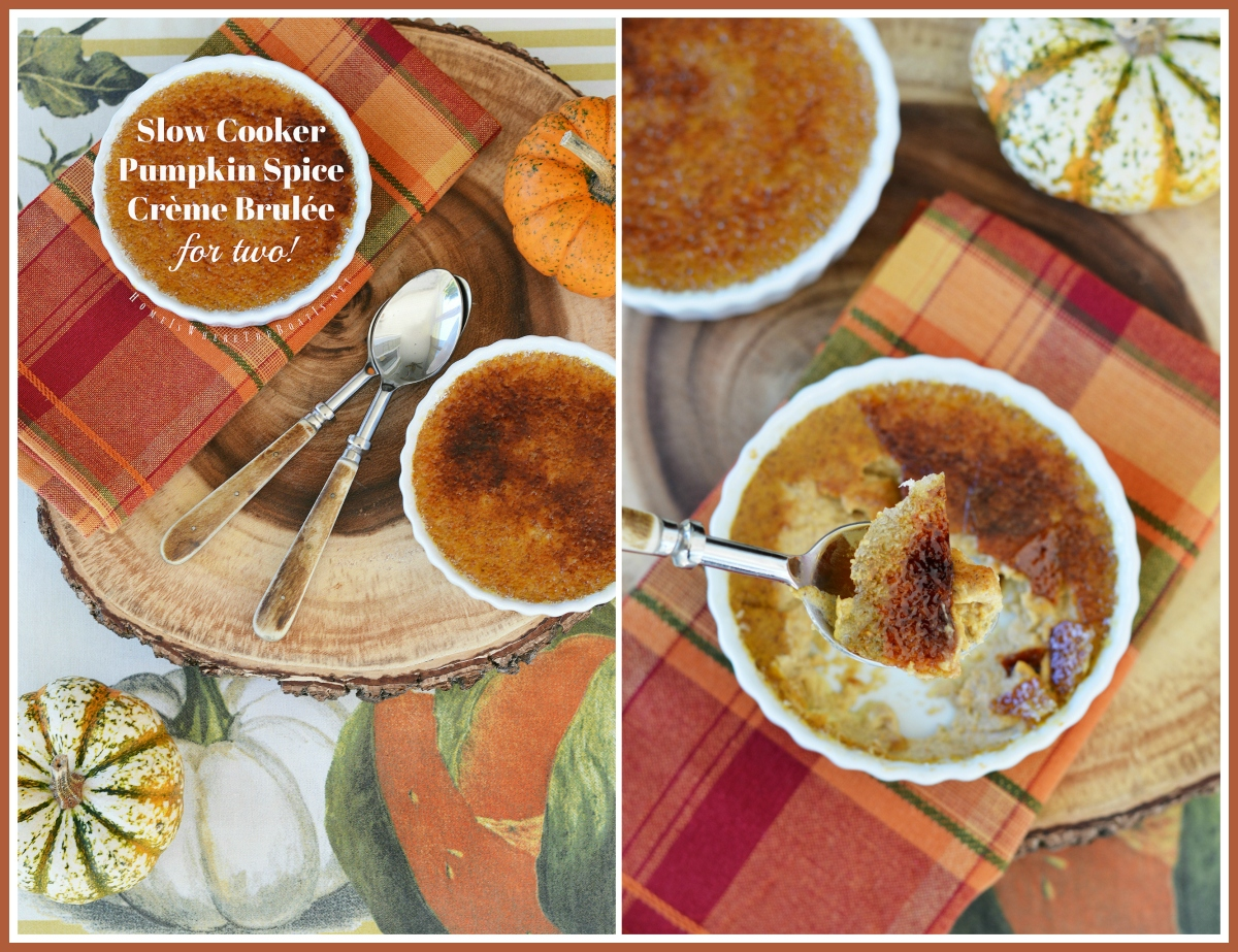 Slow Cooker Pumpkin Spice Crème Brulée {for Two!}