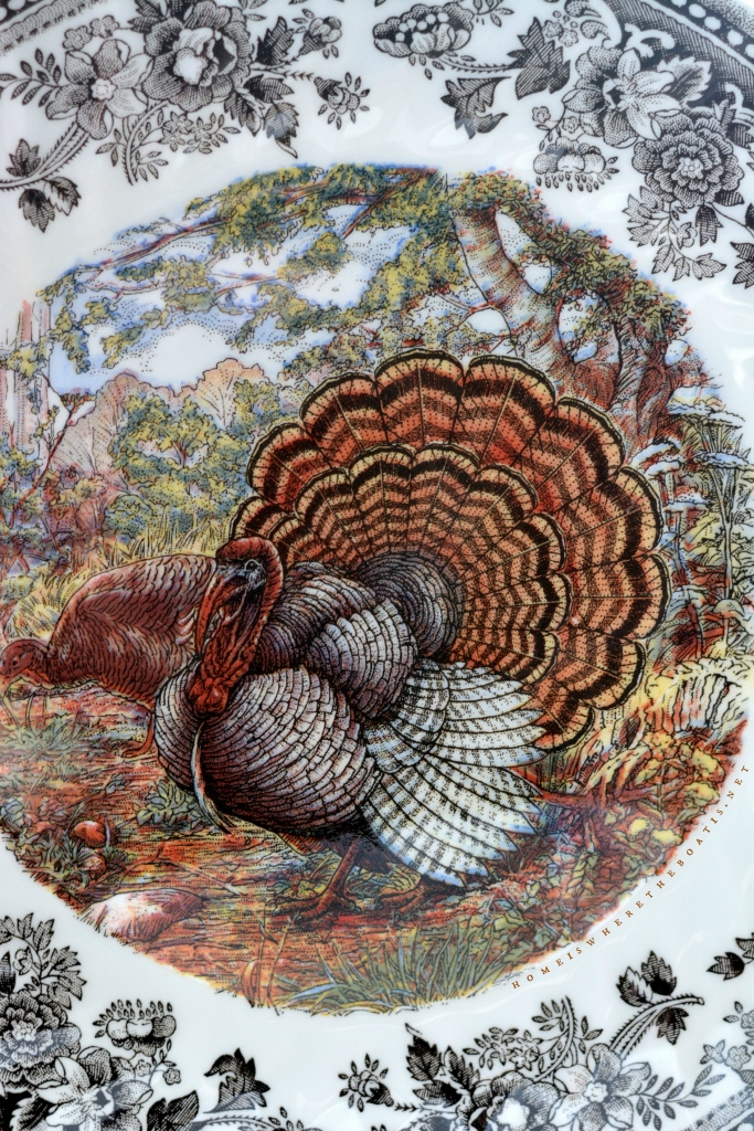 Queen's by Churchill 'Majestic Beauty' turkey | ©homeiswheretheboatis.net #thanksgiving #tablescapes #easy #turkey