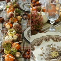At the Table: Fall's Last Hurrah and Cornucopia Napkin Fold
