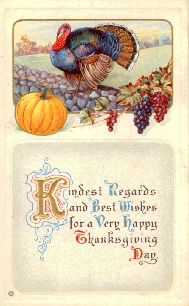 Vintage Safe Travels Thanksgiving