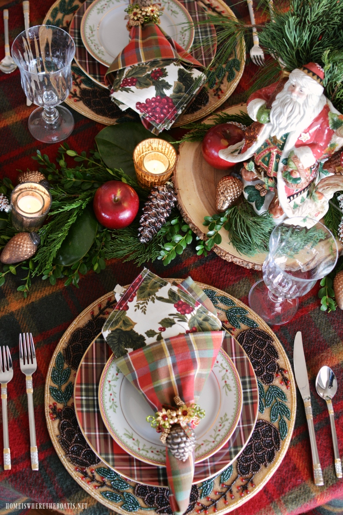 At The Table Tartan And Fitz And Floyd Christmas Lodge By